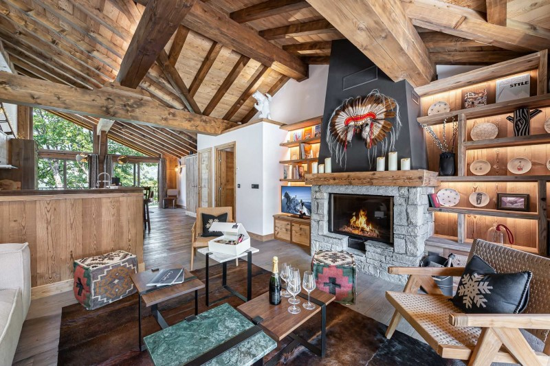 Courchevel 1300 Luxury Rental Appartment Tilute Living Room 2