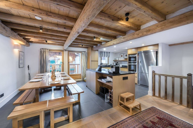 Courchevel 1300 Location Chalet Luxe Nibate Salle A Manger