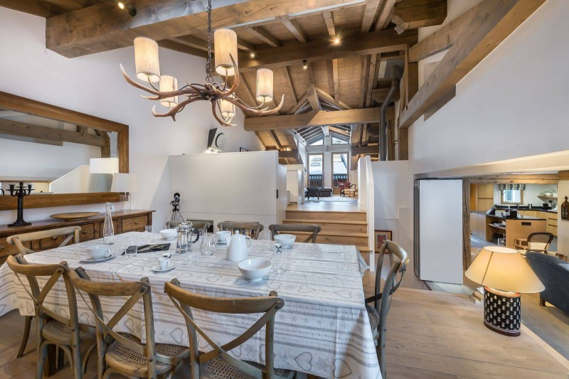 Courchevel 1300 Location Chalet Luxe Nibate Salle A Manger 2