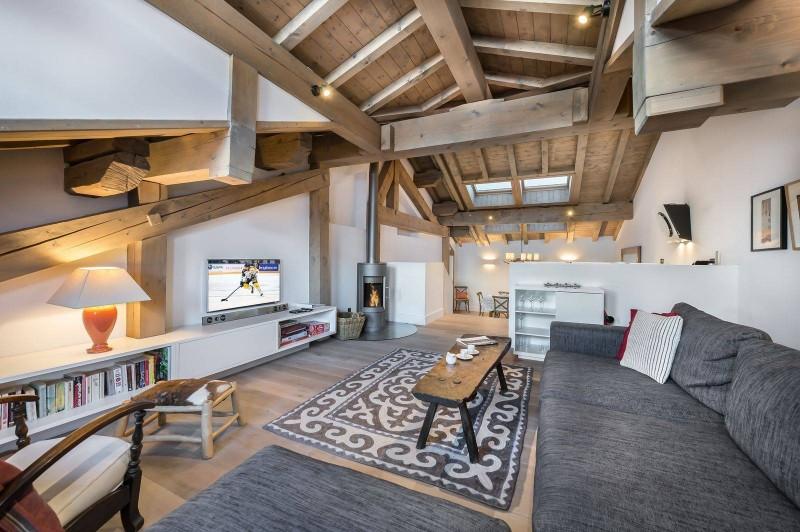 Courchevel 1300 Luxury Rental Chalet Nibate Living Room 4