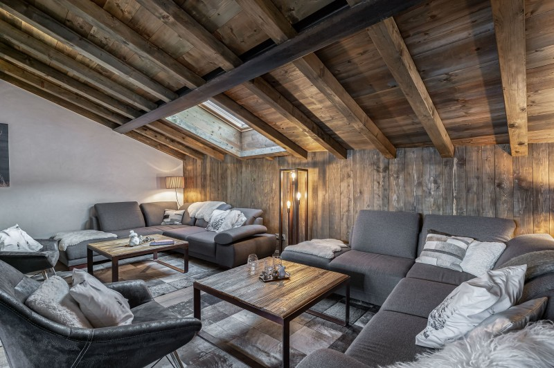 Courchevel 1300 Luxury Rental Chalet Noubate Living Room 2