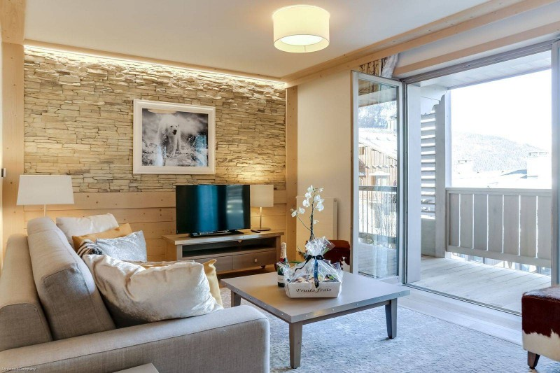 Courchevel 1550 Luxury Rental Appartment Telamite Living Room