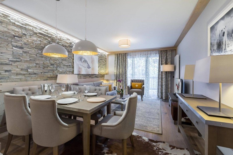 Courchevel 1550 Location Appartement Luxe Telekia Salle A Manger