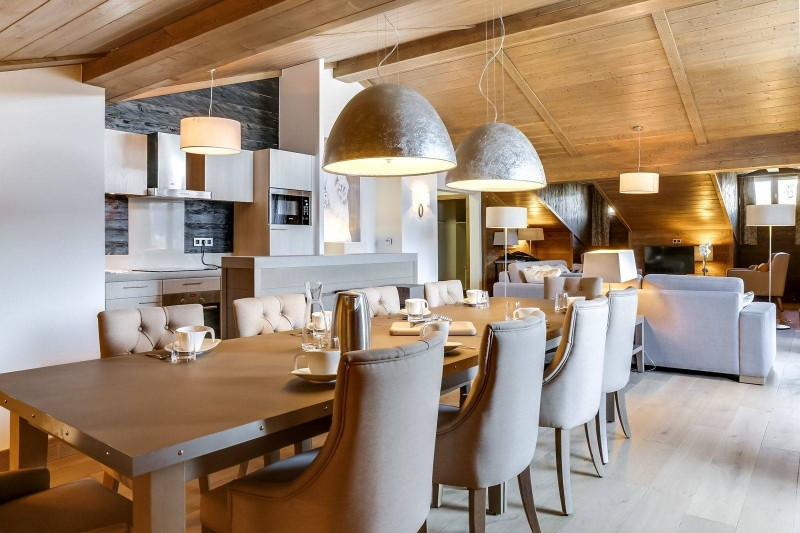 Courchevel 1550 Luxury Rental Appartment Telemite Dining Room 2