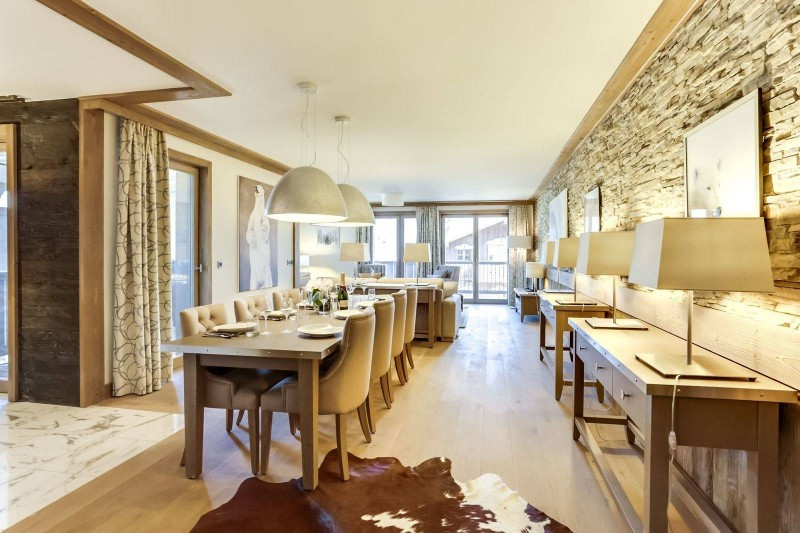 Courchevel 1550 Luxury Rental Appartment Telikia Dining Room
