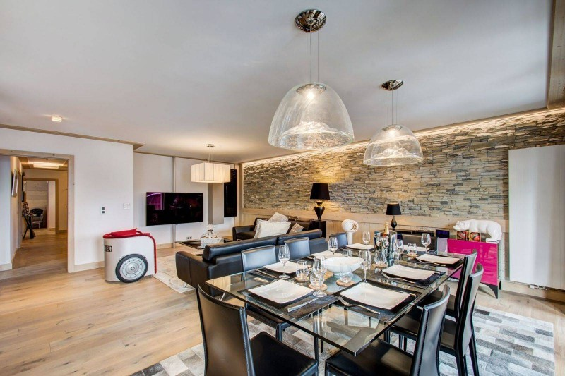Courchevel 1550 Location Appartement Luxe Telimite Salle A Manger