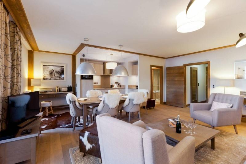 Courchevel 1550 Luxury Rental Appartment Telokia Living Room