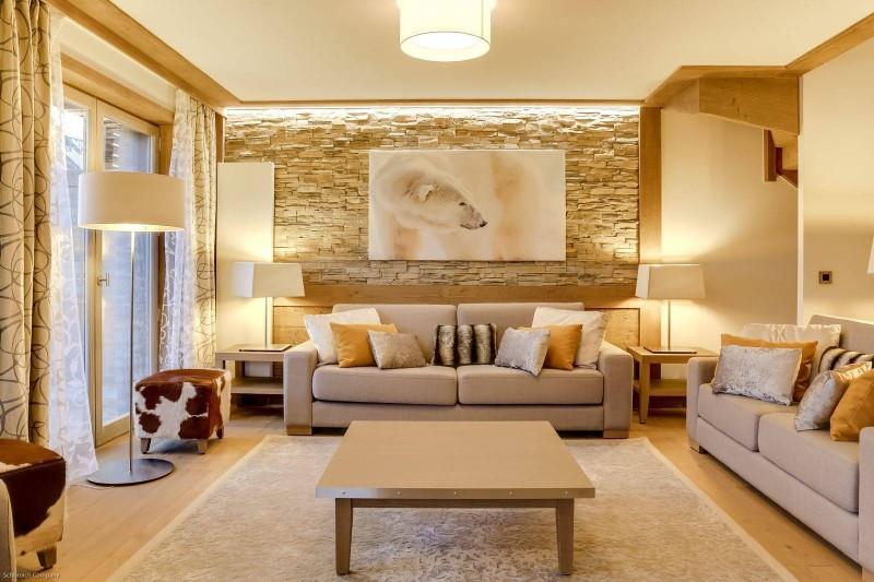Courchevel 1550 Luxury Rental Appartment Telomite Living Room 2