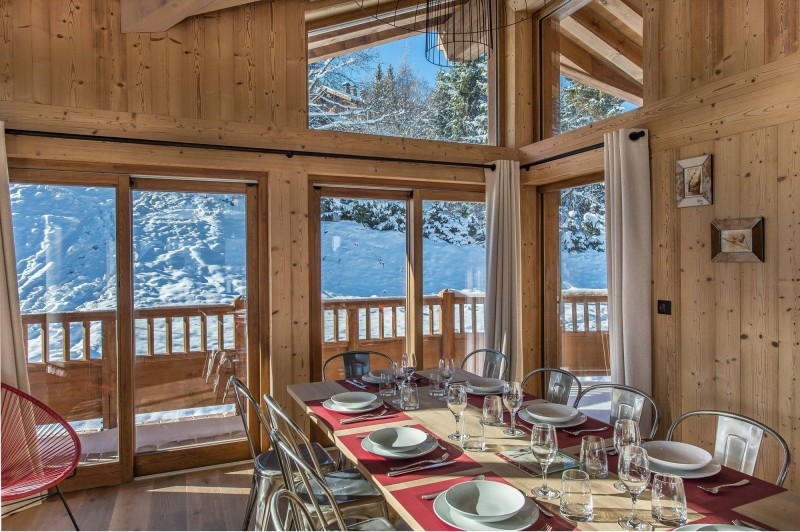 Courchevel 1550 Luxury Rental Chalet Nibite Dining Room