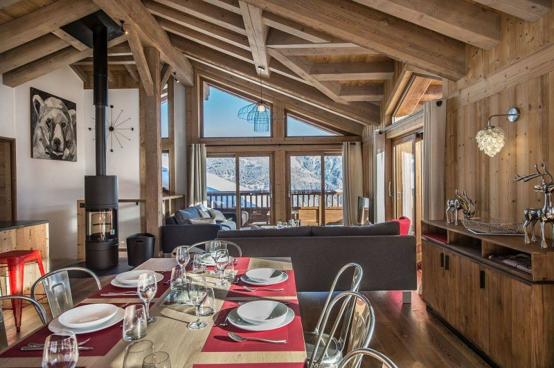 Courchevel 1550 Luxury Rental Chalet Nibite Dining Room 3
