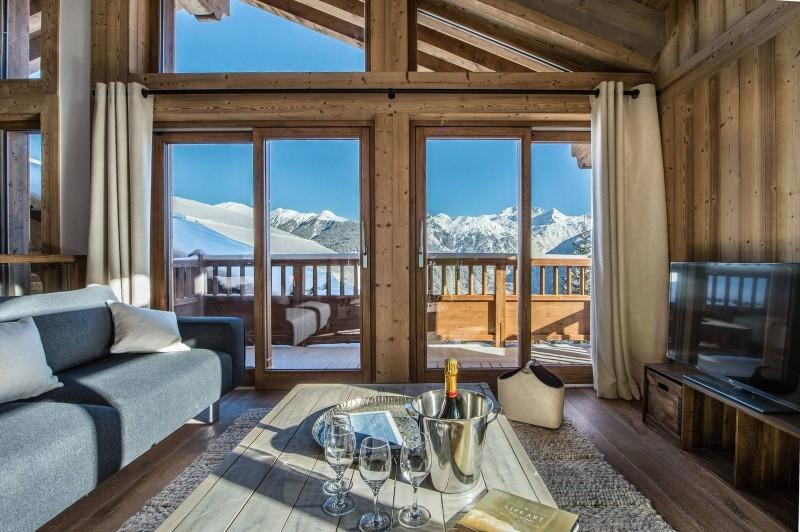 Courchevel 1550 Luxury Rental Chalet Nibite Living Room 2