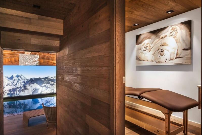 Courchevel 1550 Luxury Rental Chalet Niebite Massage Room