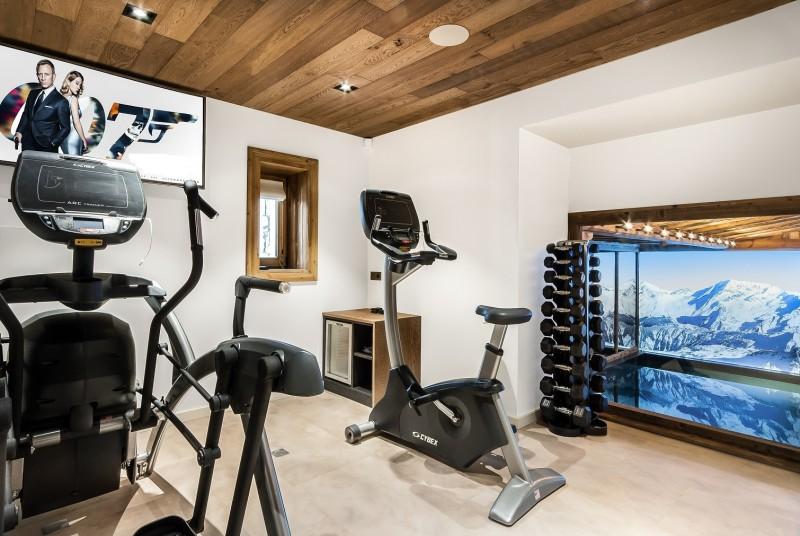 Courchevel 1550 Luxury Rental Chalet Niebite Fitness Room