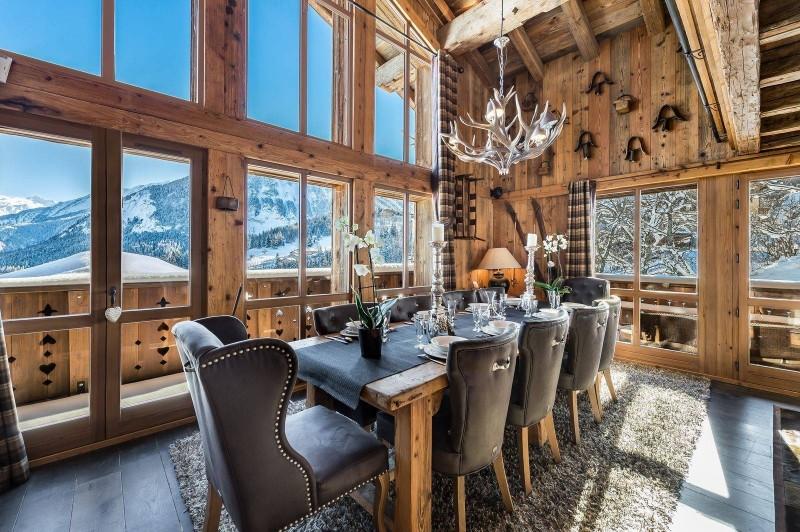 Courchevel 1550 Luxury Rental Chalet Niobite Dining Room 2