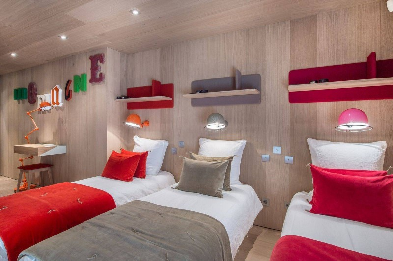 Courchevel 1550 Luxury Rental Chalet Niubite Bedroom 3