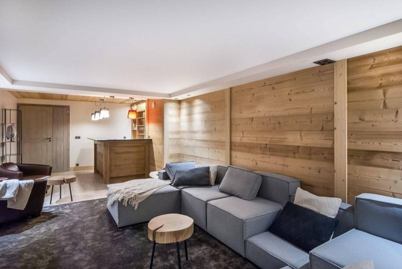 Courchevel 1550 Luxury Rental Chalet Niurer Living Room