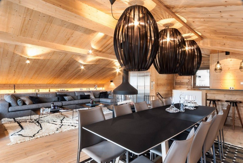 Courchevel 1550 Location Chalet Luxe Niuron Salle A Manger 2