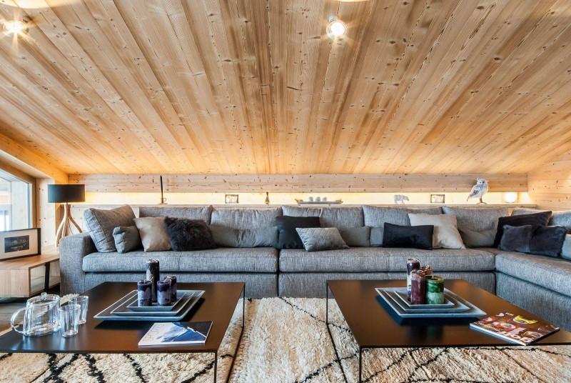 Courchevel 1550 Luxury Rental Chalet Niuron Living Room 2