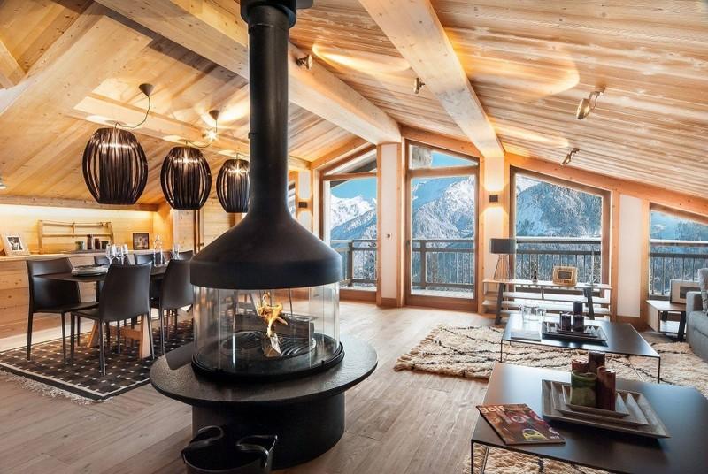 Courchevel 1550 Luxury Rental Chalet Niuron Living Room 3