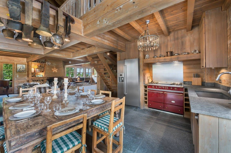 Courchevel 1550 Location Chalet Luxe Tazoy Cuisine