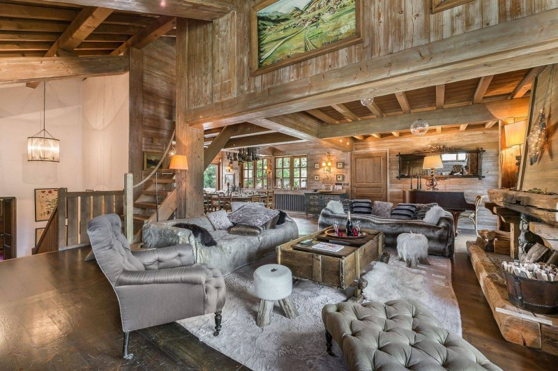 Courchevel 1550 Luxury Rental Chalet Tazoy Living Room 4