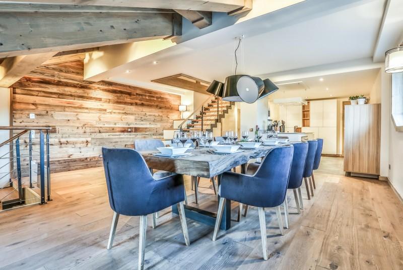 Courchevel 1650 Luxury Rental Appartment Akorlonte Dining Room