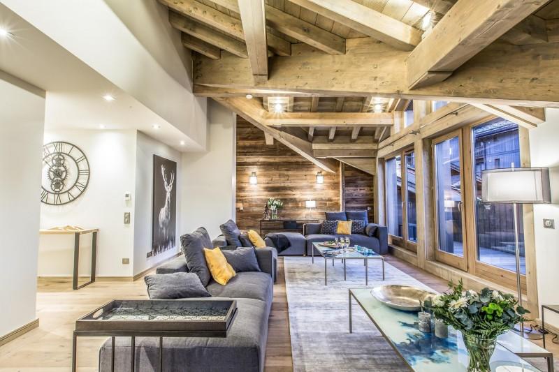 Courchevel 1650 Luxury Rental Appartment Akorlonte Living Room