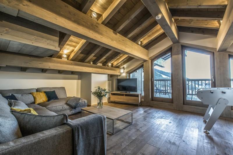 Courchevel 1650 Luxury Rental Appartment Akorlonte Living Room 4