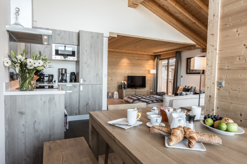 Courchevel 1650 Location Appartement Luxe Allanite Salle A Manger