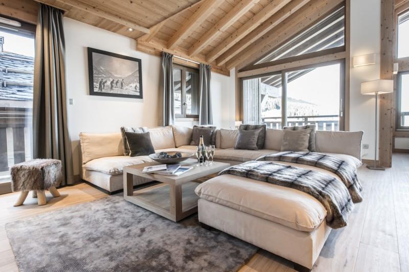 Courchevel 1650 Luxury Rental Appartment Allanite Living Room 2