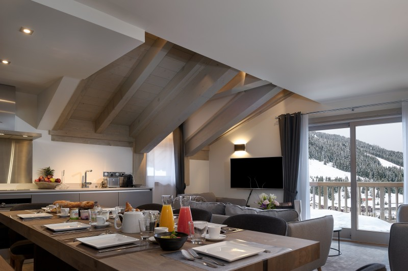 Courchevel 1650 Luxury Rental Appartment Altanto Dining Room