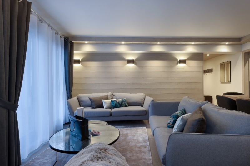 Courchevel 1650 Luxury Rental Appartment Altanto Living Room 4