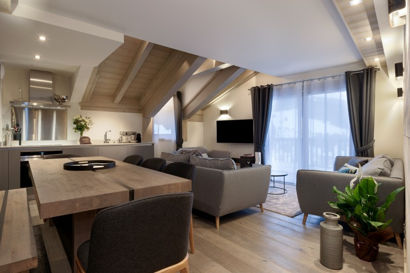 Courchevel 1650 Luxury Rental Appartment Altanto Living Room 5