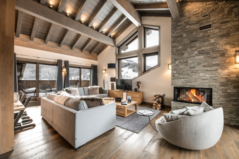Courchevel 1650 Luxury Rental Appartment Alti Living Room 2