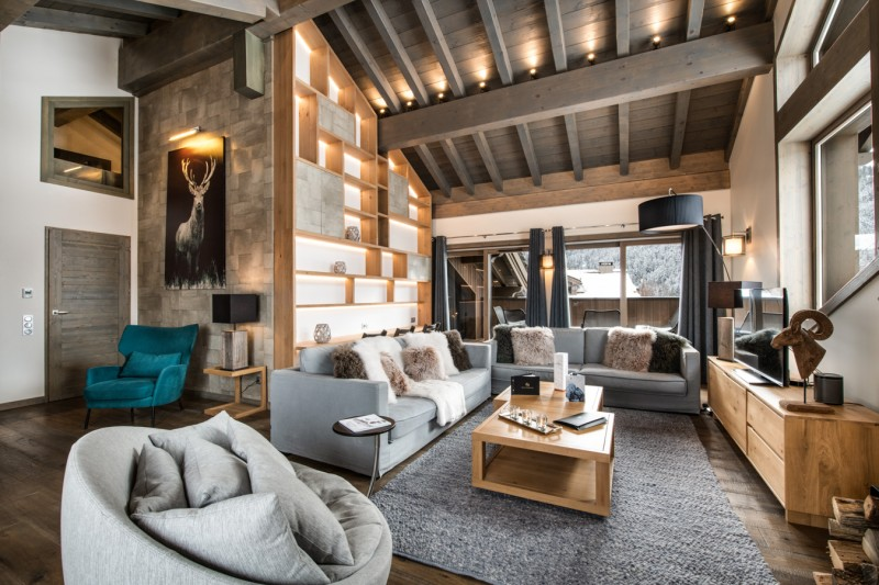 Courchevel 1650 Luxury Rental Appartment Alti Living Room