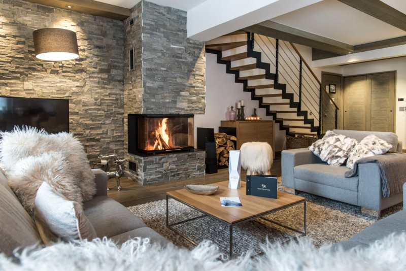 Courchevel 1650 Location Appartement Luxe Aluminite Séjour 2