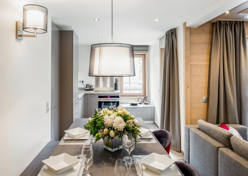 Courchevel 1650 Location Appartement Luxe Amarile Salle A Manger 2