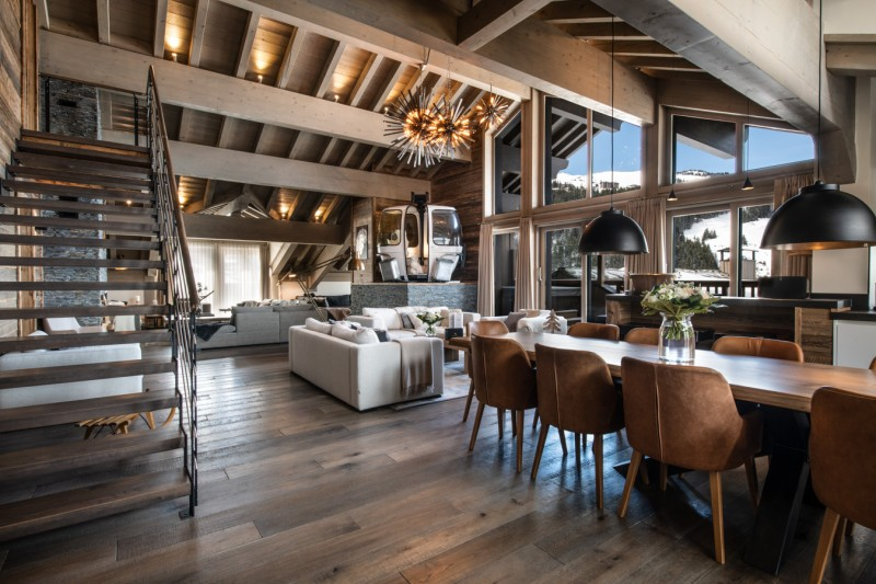 Courchevel 1650 Luxury Rental Appartment Amerile Living Room 4