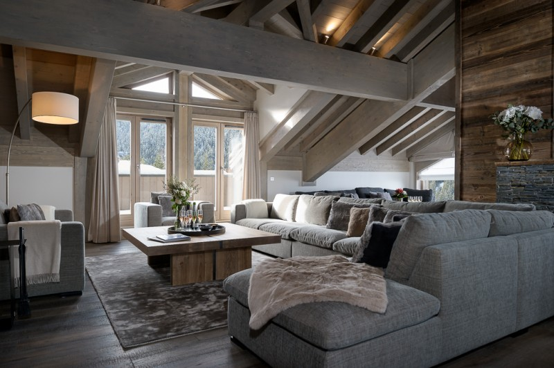 Courchevel 1650 Luxury Rental Appartment Amerile Living Room 5