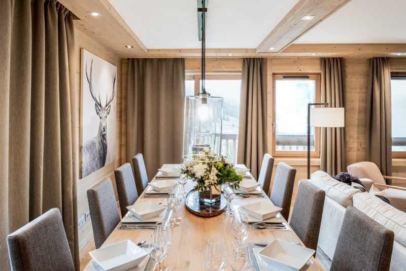 Courchevel 1650 Luxury Rental Appartment Amethyste Dining Room 2