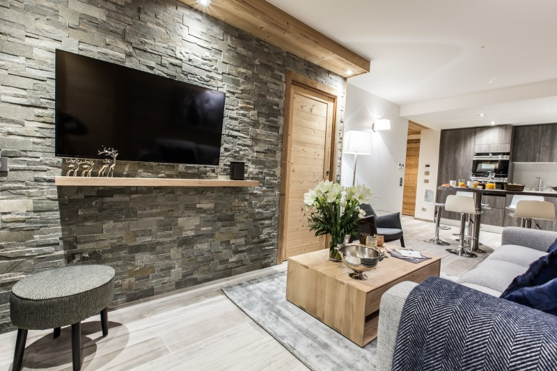 Courchevel 1650 Luxury Rental Appartment Amicite Living Room 2