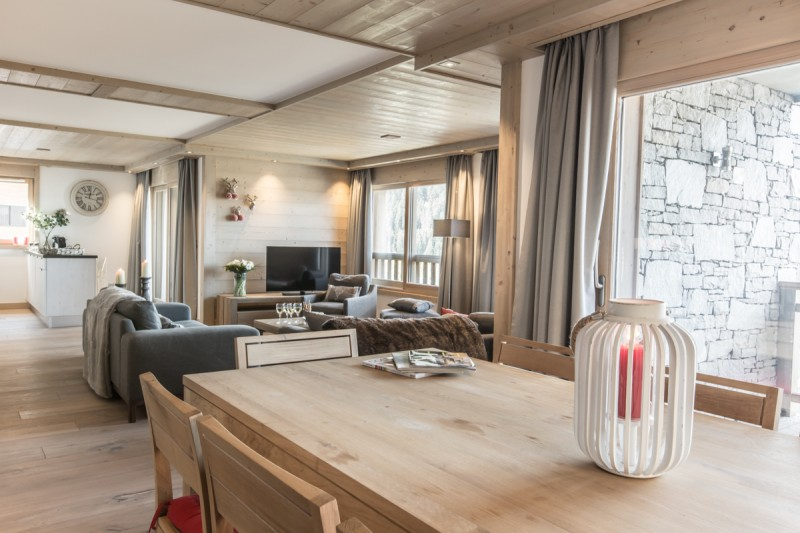 Courchevel 1650 Luxury Rental Appartment Ammonite Dining Room 2