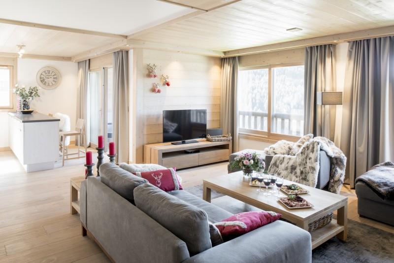 Courchevel 1650 Luxury Rental Appartment Ammonite Living Room 2