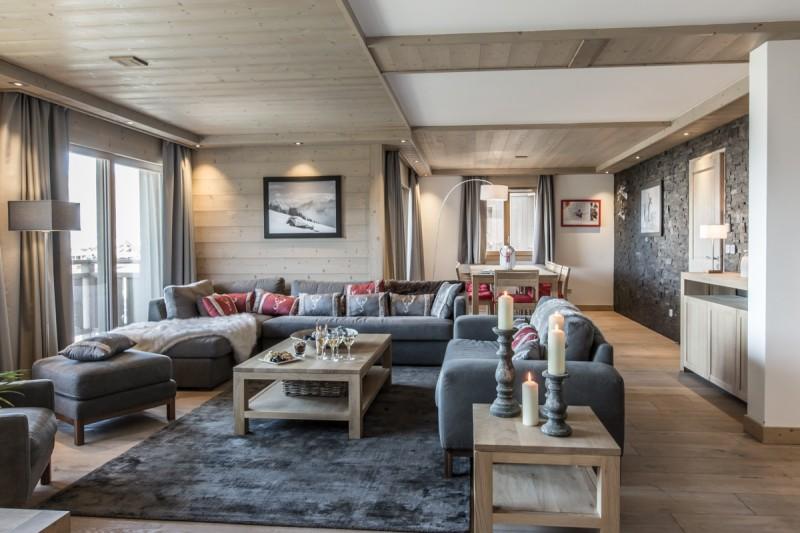 Courchevel 1650 Luxury Rental Appartment Ammonite Living Room