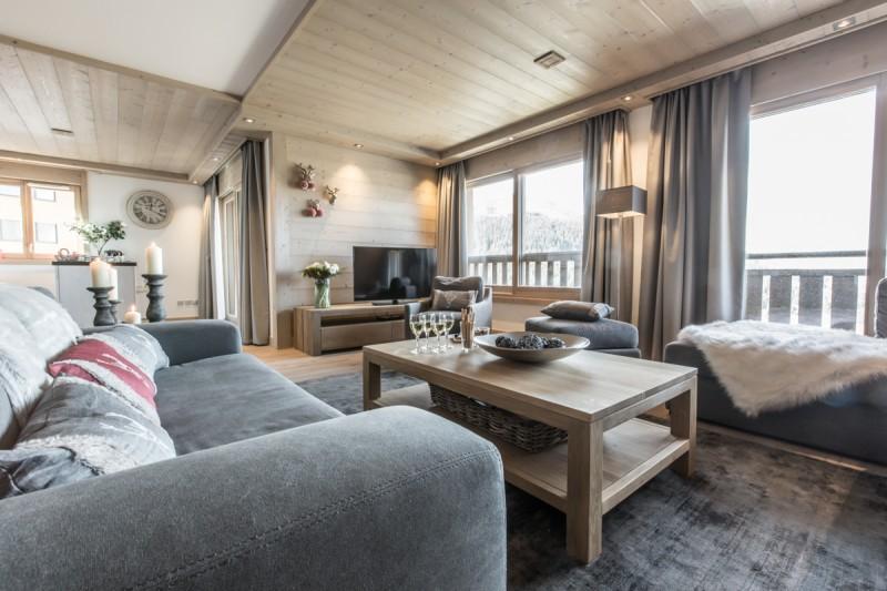 Courchevel 1650 Luxury Rental Appartment Ammonite Living Room 5