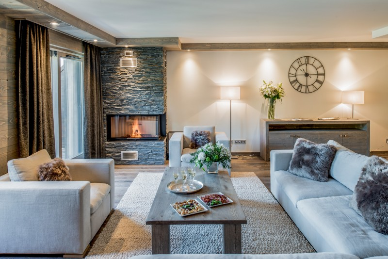 Courchevel 1650 Luxury Rental Appartment Amurile Living Room