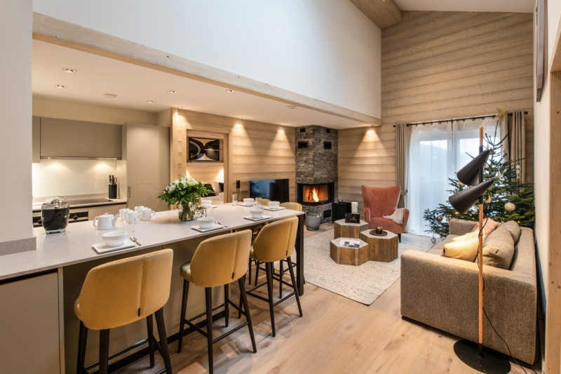 Courchevel 1650 Luxury Rental Appartment Aurelite Living Room