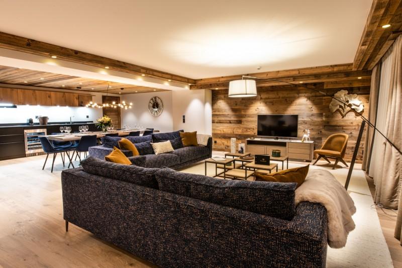 Courchevel 1650 Luxury Rental Appartment Aurolite Living Room 2