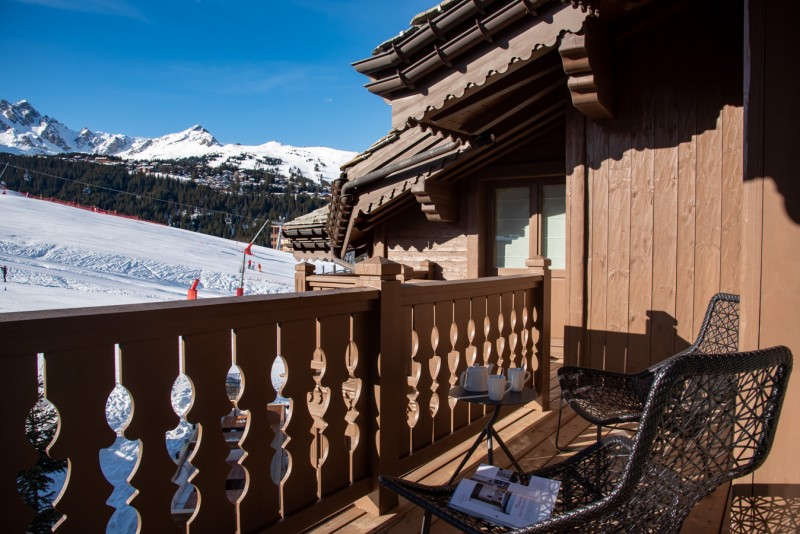 Courchevel 1650 Location Appartement Luxe Aurulite Balcon