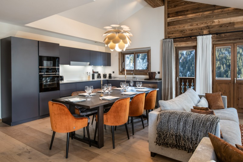 Courchevel 1650 Luxury Rental Appartment Aurulite Living Room 2